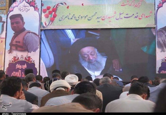مراسم بزرگداشت شهدای خدمت سیل در اهواز برگزار شد+ تصویر