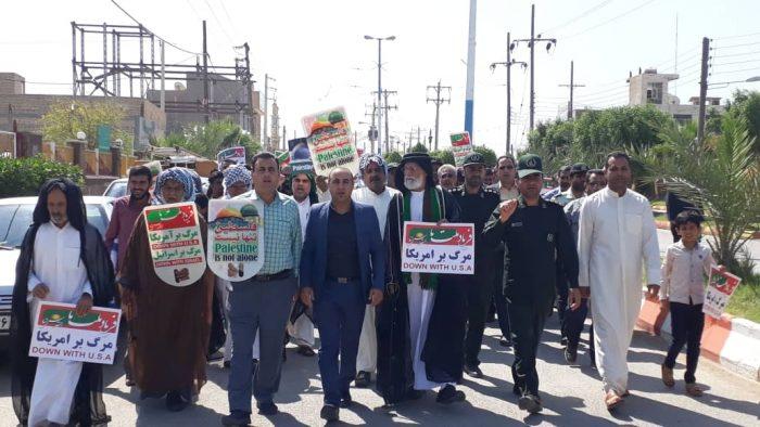 برگزاری راهپیمایی روز جهانی قدس در شهر بستان