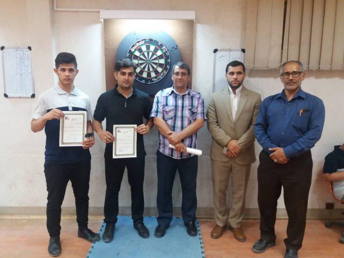 مسابقات دارت جام رمضان در اهواز  برگزار شد