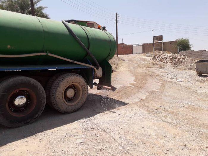 گزارش تصویری از آماده و زیر سازی مناطقی ازمحله بی بیان مسجدسلیمان برای آسفالت + تصاویر