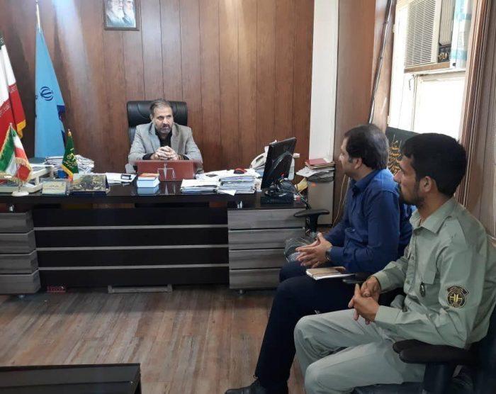 دیدار مدیران و کارمندان ادارات محیط زیست و هلال احمر با ریاست دادگستری و دادستان شهرستان مسجدسلیمان به مناسبت هفته قوه قضائیه + تصاویر