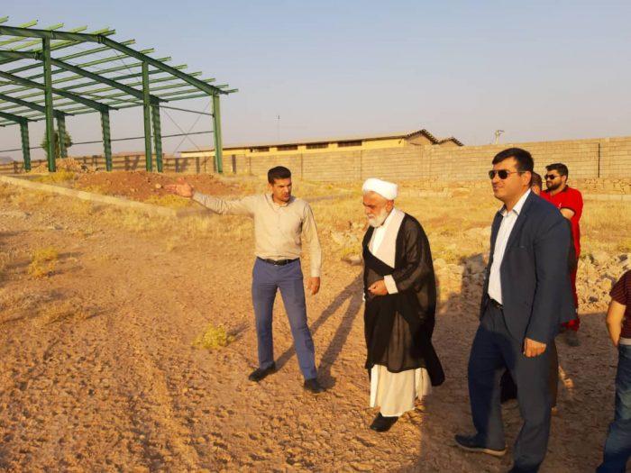 بازدید میدانی حجتی نیا سرپرست فرمانداری مسجدسلیمان از پروژه های عمرانیجمعیت هلال احمر شهرستان