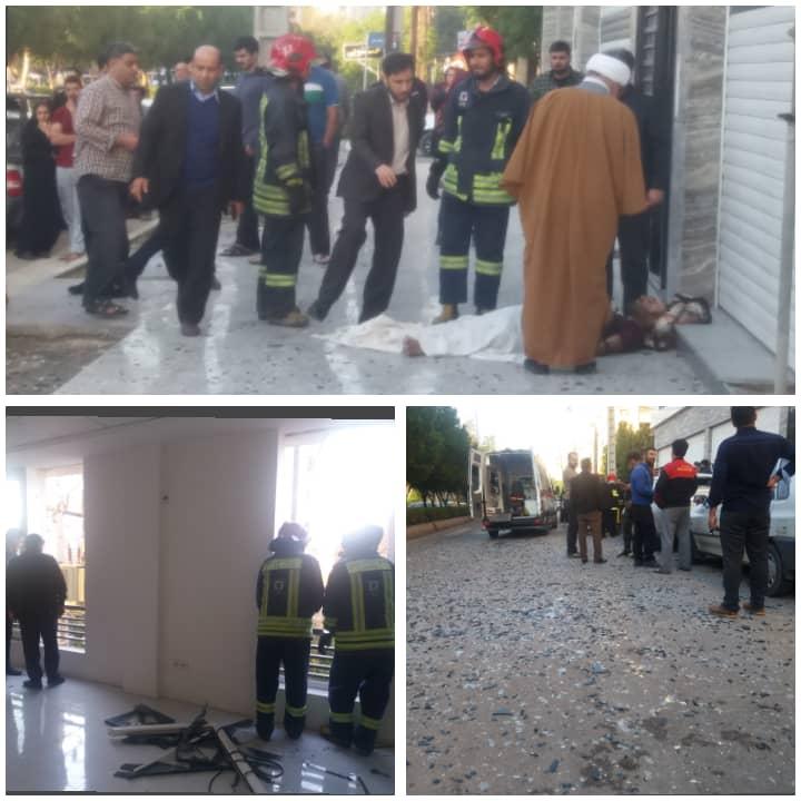 انفجار سیلندرگاز نگهبان / دچار سوختگی شد و قسمتی از ساختمان تخریب شد + تصاویر