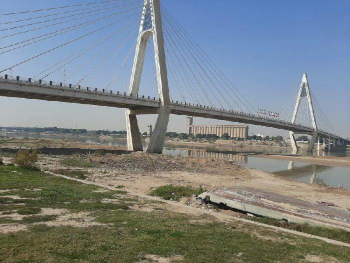 وضعیت اسفناک رود کارون در شهر اهواز + تصاویر