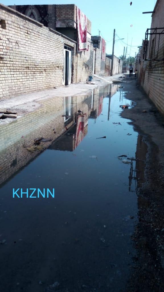از ترس شیوع کرونا ماسک می زنیم ، اما فاضلاب خیابان و مناطق مسکونی را احاطه نموده است