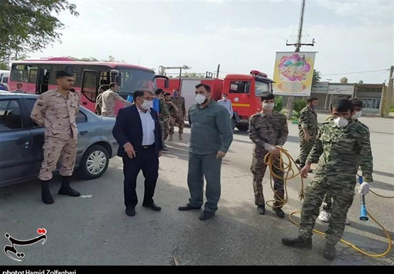 بسیج اندیمشک همپای مدافعان سلامت در میدان مبارزه با کرونا؛ اقدامات تحسین برانگیز بسیج اندیمشک + تصویر
