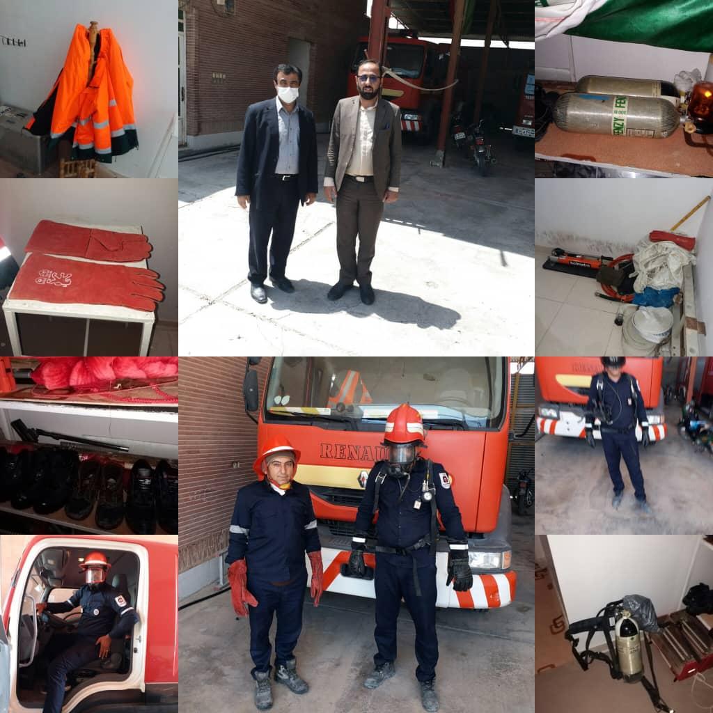 بازدید مهندس طاهری نیا شهردار هندیجان ازواحد آتشنشانی
