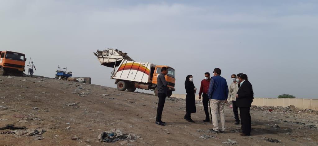 خاکریزی و دفن شبانه زباله ها در قلعه چنعان توسط پیمانکار شهرداری