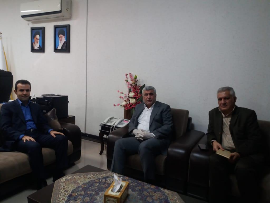 دیدار دکتر علیرضا ورناصری با علی خدری مدیرعامل شرکت توزیع نیروی برق استان خوزستان