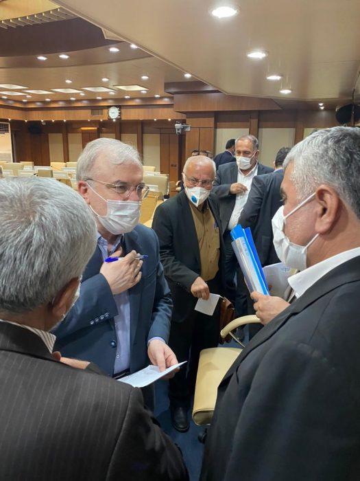 دکتر ورناصری ضمن حضور در محل دفتر وزیر بهداشت با وی به دیدار و گفتگو پرداخت