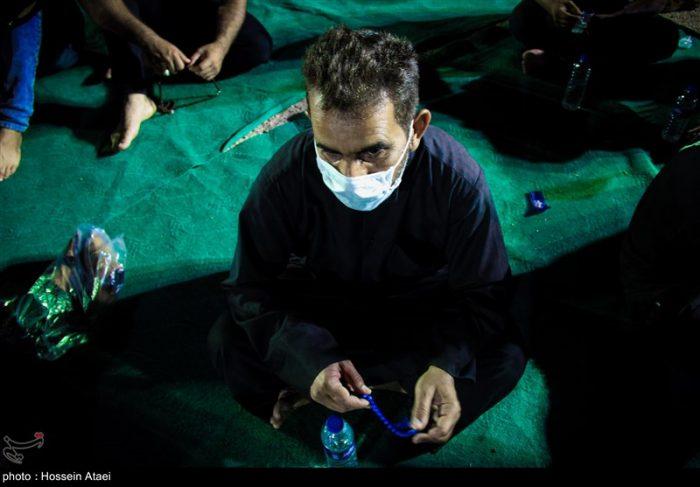 عزاداری اهالی منطقه عین دو اهواز با رعایت پروتکلهای بهداشتی برگزار شد + تصاویر