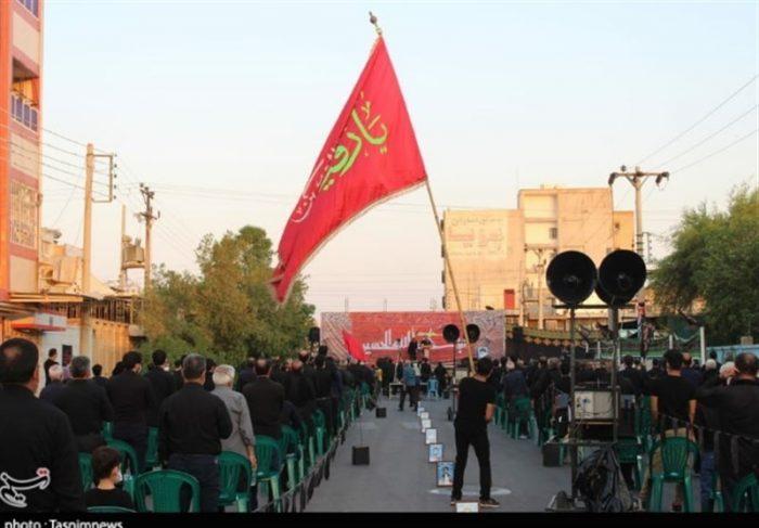 مراسم تاسوعای حسینی با رعایت پروتکلهای بهداشتی در استان خوزستان برگزار شد+تصاویر