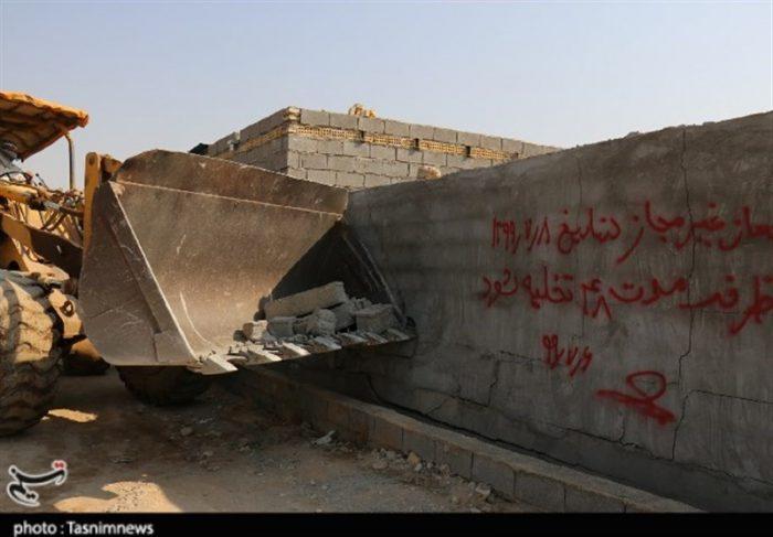 ۴۸ بنای غیرمجاز در اراضی کشاورزی با حکم قضایی در دزفول قلع و قمع شدند +تصاویر