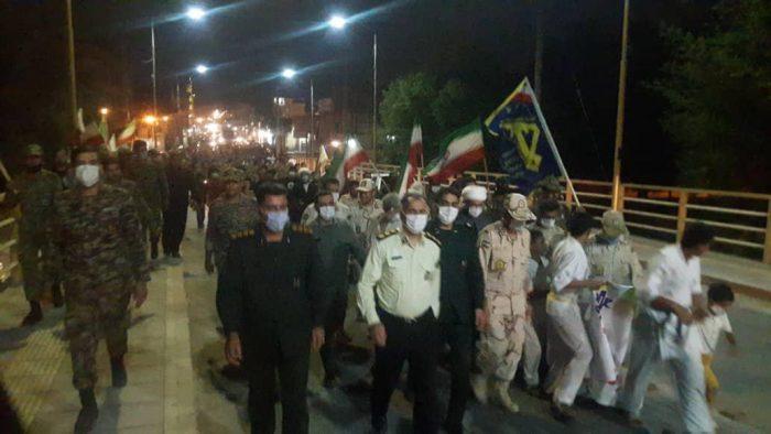 گزارش تصویری راهپیمایی عظیم بسیجیان و برگزاری مراسم روح بخش زیارت عاشورا در سوسنگرد