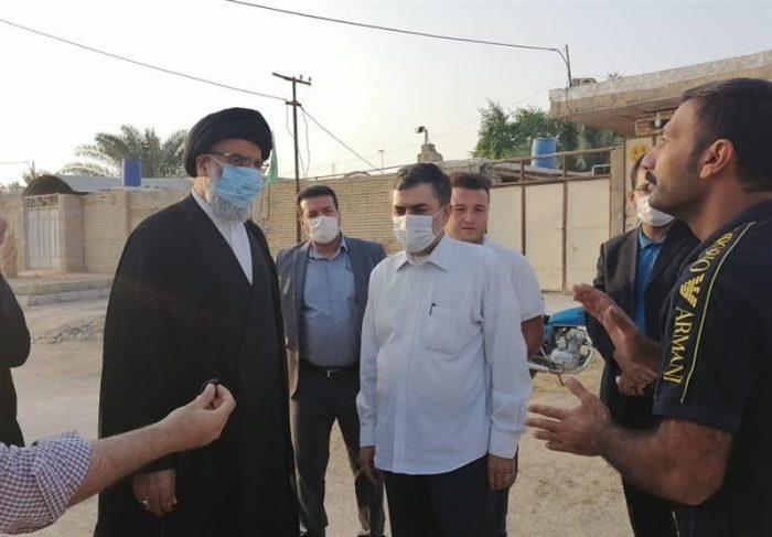 بازدید میدانی نماینده ولی فقیه در خوزستان از شادگان + تصاویر