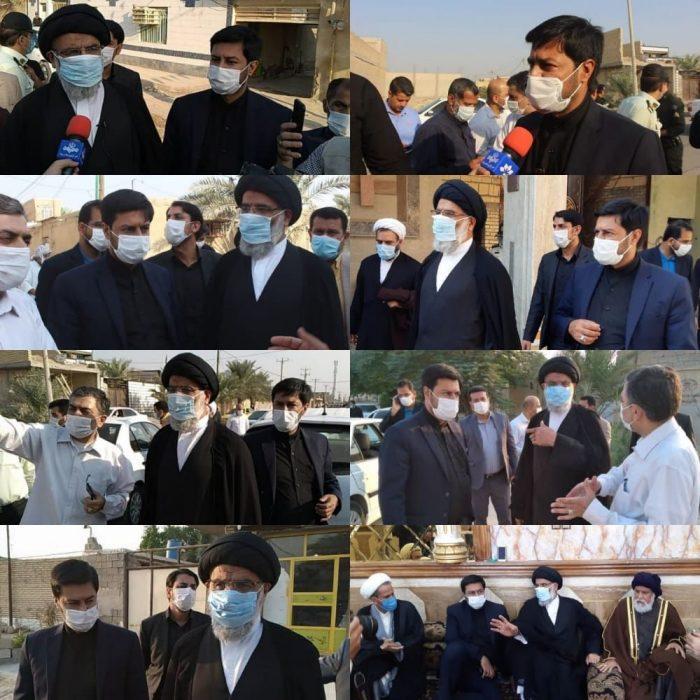 بازدید نماینده ولی فقیه در استان خوزستان از شهرستان شادگان