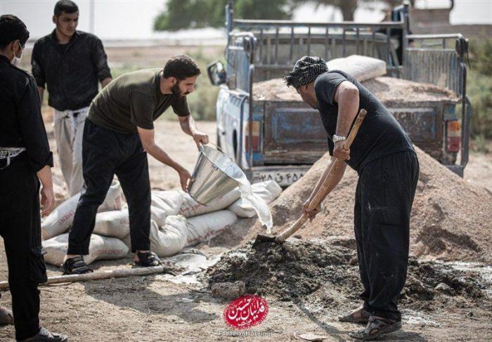 """جهادگران اهوازی در کوی """"سیاحی"""" مرکز عامالمنفعه درمانی احداث میکنند"""