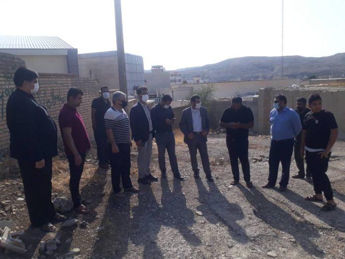 اولین حضور کاری مهندس مولائی شهردار مسجدسلیمان در منطقه بازار چشمه علی + تصاویر