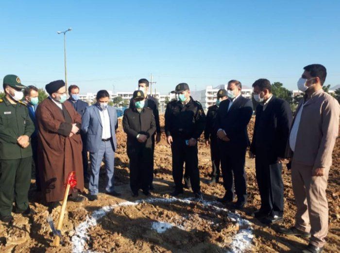 عملیات اجرایی دو پروژه عمرانی نیروی انتظامی در شهرستان مسجدسلیمان آغاز شد + تصاویر
