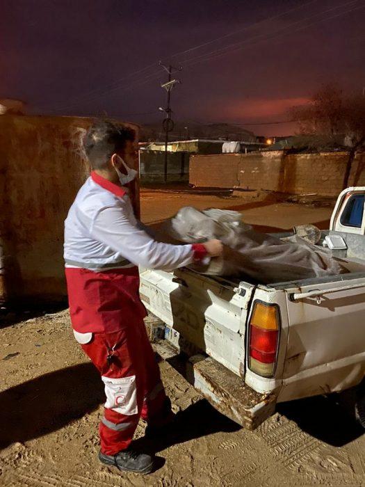 امدادرسانی امدادگران جمعیت هلال احمر امیدیه