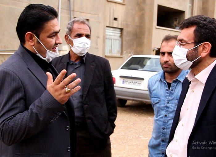 بازدید میدانی وحید زمانی رئیس شورای شهرستان مسجدسلیمان و شهردار مسجدسلیمان از مشکلات منطقه نفتک شهرک خیبر