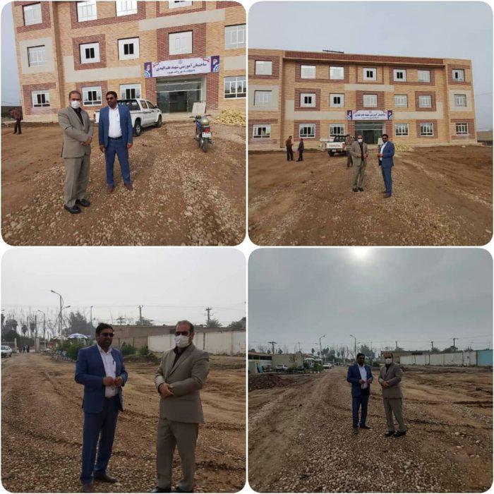 بازدید فرماندار هویزه از پروژه ساخت ساختمان دانشگاه پیام نور