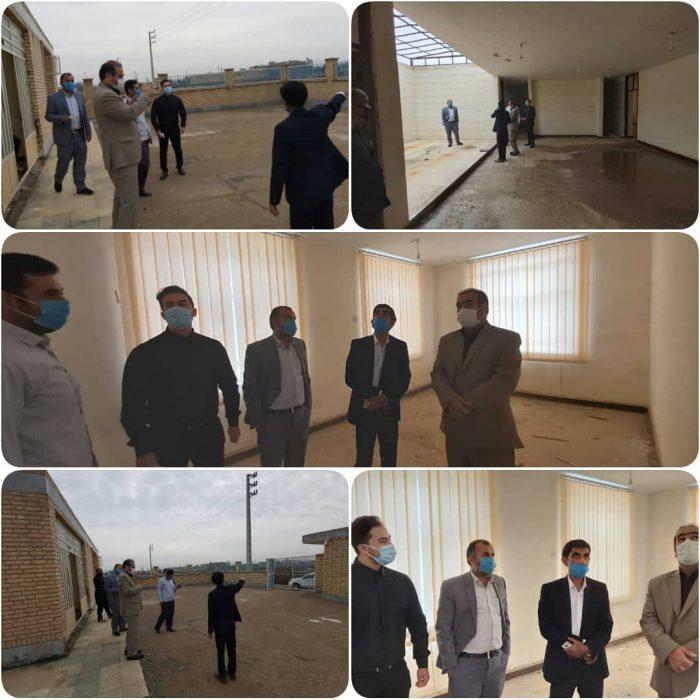 بازدید فرماندار هویزه از روند ساخت و تجهیز ساختمان جدید الاحداث اداره بهزیستی شهرستان