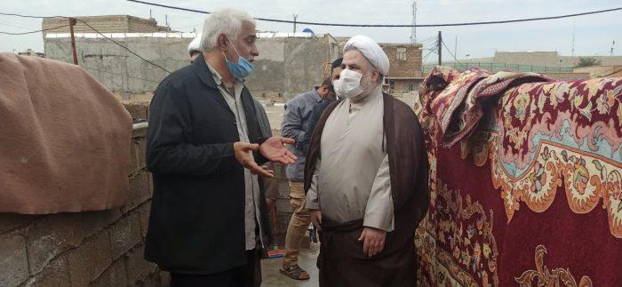 بازدید میدانی رئیس کل دادگستری خوزستان از منطقه محروم منبع آب اهواز + تصاویر