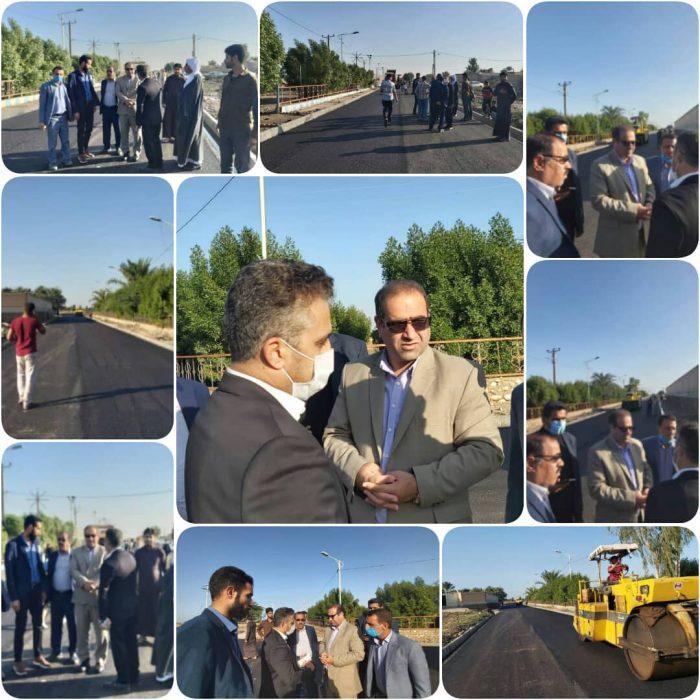 آغاز پروژه آسفالت روستای یزد نو از توابع شهرستان هویزه