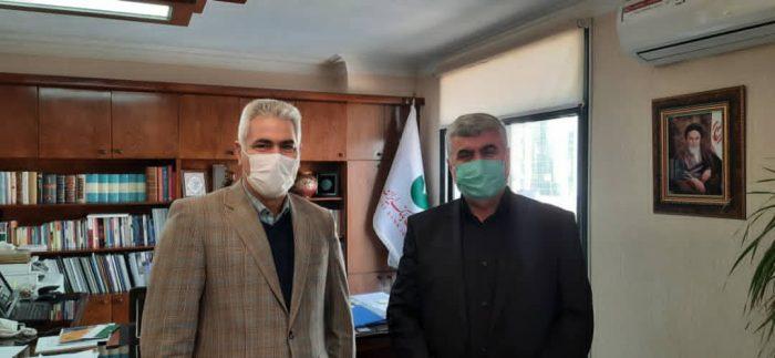 دیدار و گفتگوی دکتر علیرضا ورناصری با مدیرعامل پست بانک کشور