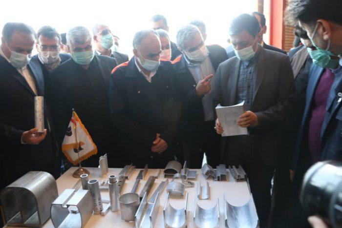 بازدید رئیس بنیاد مستضعفان از کارخانه آلومینیوم کاوه مسجدسلیمان + تصاویر