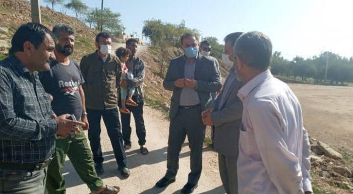 بازدید فرماندار مسجدسلیمان از محل سقوط کودک در منطقه نفتک (باشگاه سوارکاران) + تصاویر