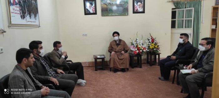 دیدار گروه های جهادی مسجدسلیمان با امام جمعه شهرستان