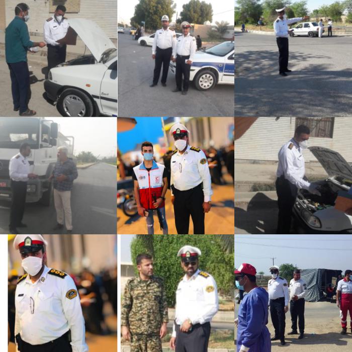 تقدیر و تشکر جمعی از شهروندان شهرستان دشت آزادگان از اداره راهنمایی و رانندگی