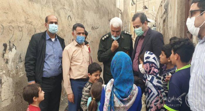 در بازدید میدانی سرپرست شهرداری اهواز از محلات مختلف منطقه ۷ مطرح شد: پشتیبانی مدیریت شهری از فعالیتهای گروههای جهادی