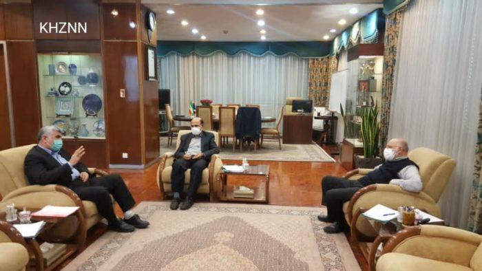 جلسه دکتر علیرضا ورناصری با وزیر نفت