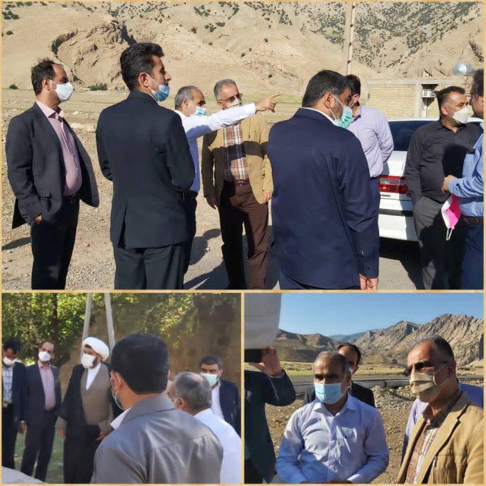 بازدید هیئت اعزامی وزارت نیرو جهت بررسی و پیگیری مشکلات آب و فاضلاب شهرستان لالی