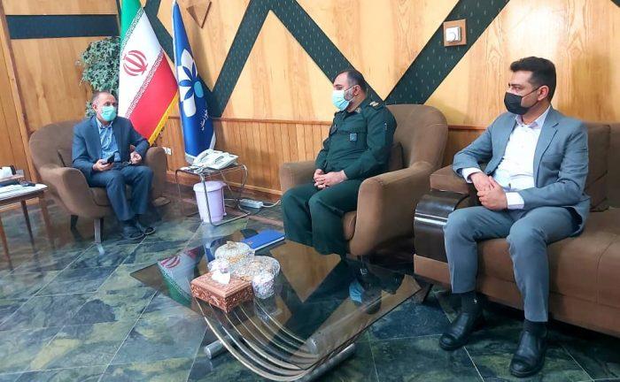 دیدار فرمانده ناحیه مقاومت بسیج سپاه هندیجان با مدیرکل صداوسیمای استان خوزستان