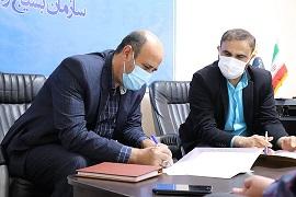 امضای تفاهم نامه حقوقی بین دو سازمان بسیج رسانه و بسیج حقوقدانان خوزستان