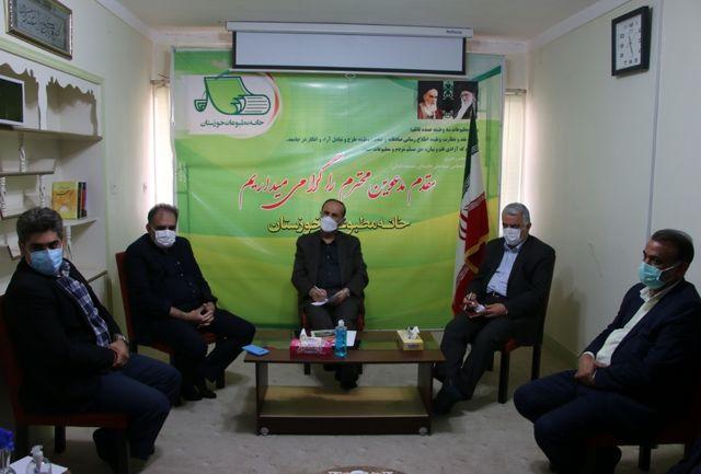 تاکید استاندار خوزستان بر رفع مشکلات خانه مطبوعات و اصحاب رسانه