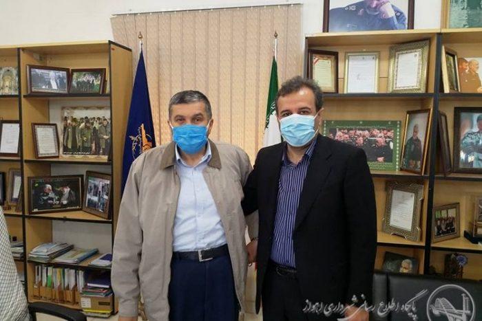 دیدار شهردار اهواز و دبیر قرارگاه محرومیت زدایی سپاه در راستای کمک به محلات کم برخوردار