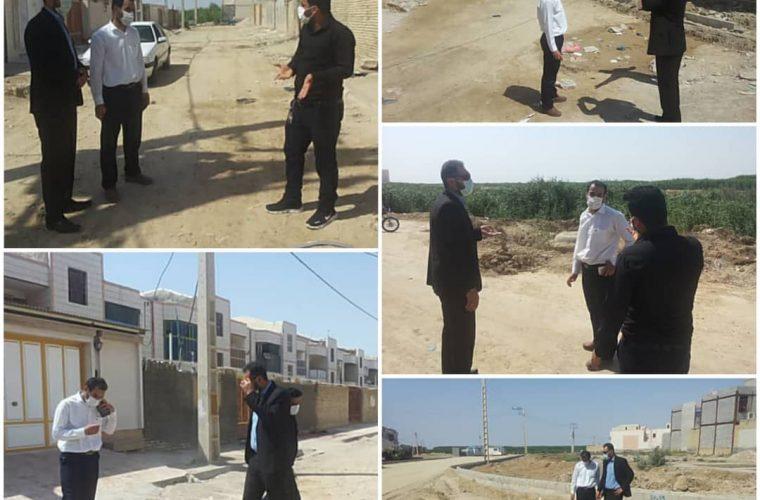 بازدید مدیر آبفا ازشبکه فاضلاب شهرستان هندیجان