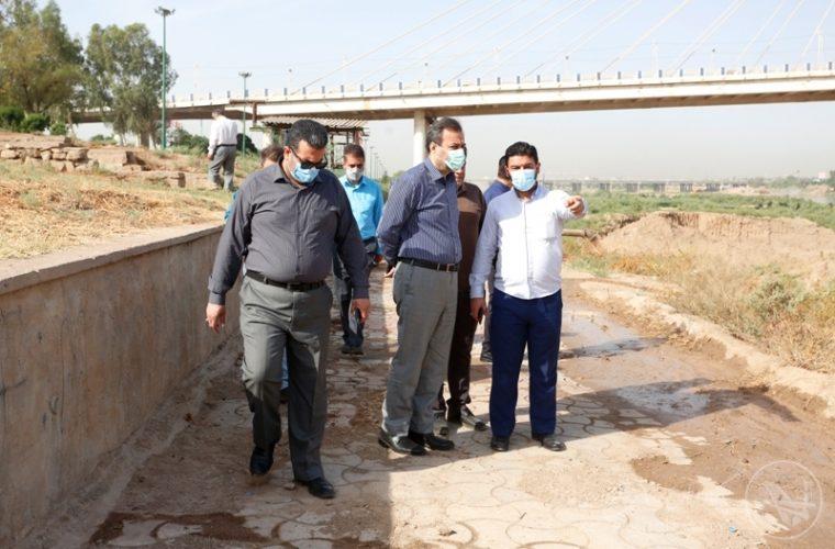 بازدید شهردار اهواز از محل انجام مناسک صابیین مندایی
