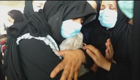 آئین تشییع و خاکسپاری شهید تازه تفحص شده گل محمد خلفیان در مسجدسلیمان برگزارشد