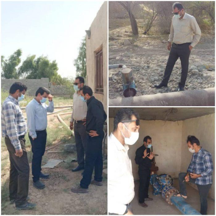 بازدید میدانی سرپرست آبفا هندیجان از تاسیسات آب شرب روستای امامزاده عبدالله