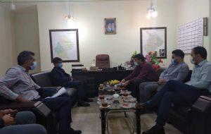 جلسه فرماندارشهرستان اندیکا با دکتر اکبری معاون سازمان راهداری کشور