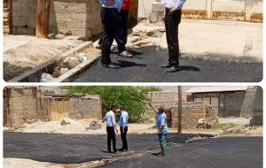 بخشدار بخش مرکزی امیدیه خبرداد :  آسفالت روستای نمره یک بالا باید اصلاح شود