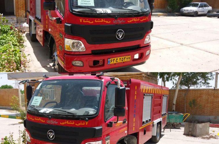 یک دستگاه خودرو سنگین اطفا حریق به ناوگان آتش نشانی دارخوین اضافه شد