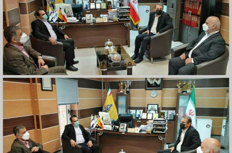 نشست فرماندار آغاجاری با مدیرعامل شرکت پالایش گاز بیدبلند