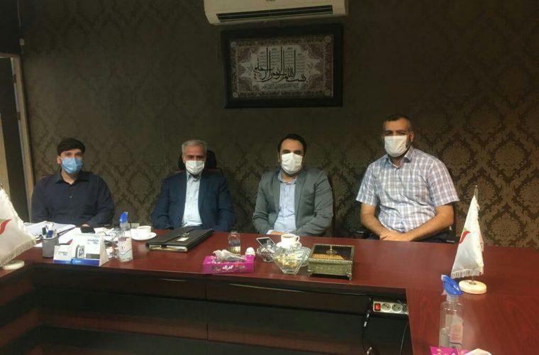 فرماندارشهرستان آغاجاری با مدیرعامل شرکت بین المللی افق نفت و گاز خاورمیانه سرمایه گذار پتروپالایشگاه آغاجاری دیدار کرد